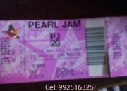 Vendo Entrada Concierto Pearl Jam en LIMA. Ten Derecha